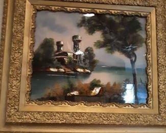 Reverse Paint Art Painting
