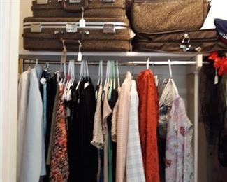 Vintage Womens Clothes and Luggage
