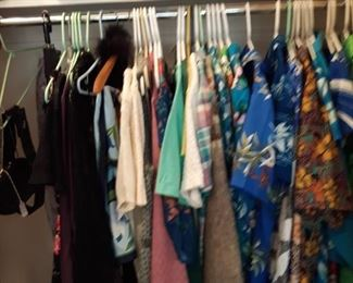 Closet full of Vintage Clothes, Hats, Shoes, Boots, Luggage etc