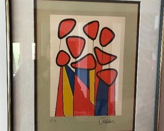 Stabiles by Alexander Calder lithograph - pencil signed by artist