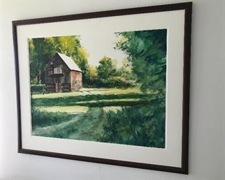 Original artwork by Ted Peterson. Local artist