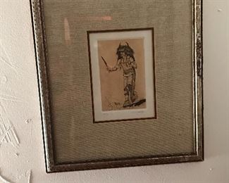 Buffalo Dancer by D.  Hughes - Original Etching