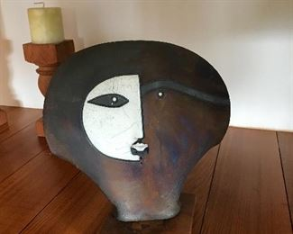 Doug DeLind  Raku sculpture