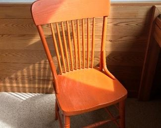 Orange antique chair