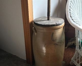 Antique bee sting  butter churn