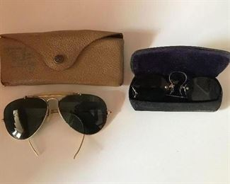 Vintage Ray Bans and antique spectacles