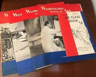 Vintage Washington school of Art magazines