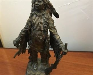 Carl Kauba - Austria - Bronze Indian Chief sculpture