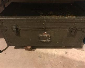 Military wood ammunition chest