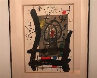 Joan Miro lithograph /Title:  Mourlot