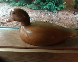 Vintage carved duck by George Hutchinson