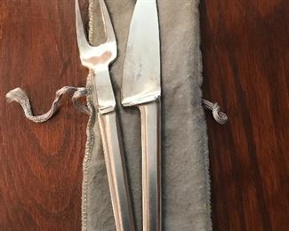 Vintage stainless steel serving utensils