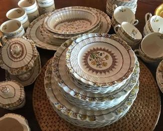 Spode dish set -Buttercup pattern