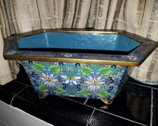 Early Cloisonne planter