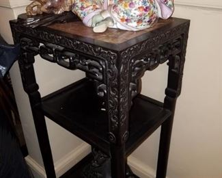 Rosewood Chinese Stand, Antique