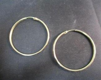 14K Gold Large Hoop Earrings