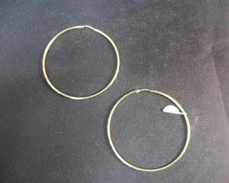 14K Gold Medium Hoops Earrings