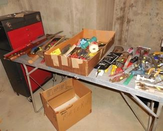Misc. tools; tool chest