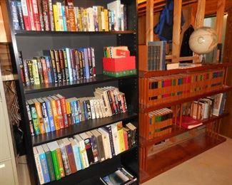 Books; bookshelves