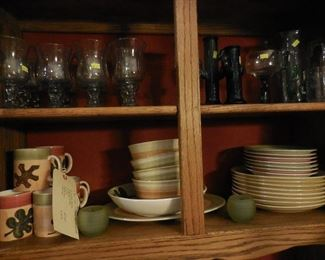 Set of dishes and glassware