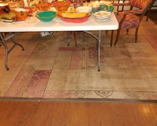 Approx 9'x12' room-size rug and 2 matching runners