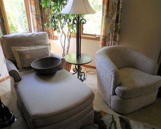 Chaise longue; side chair