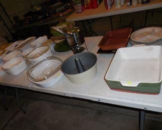Corningware; baking dishes