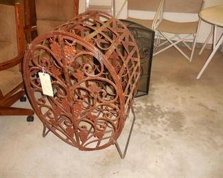 Large iron wine rack