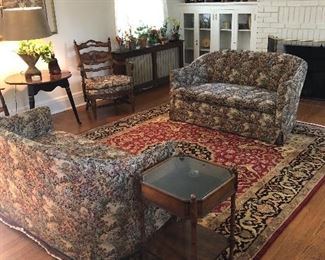 View of living room furnishings for sale