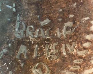 Detail of signature