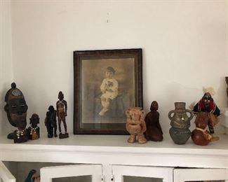 Assortment of African tourist items