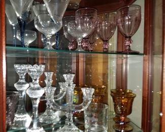 GLASSWARE.       CANDLESTICKS