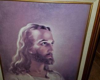 JESUS PAINTING. RELIGIOUS ART.