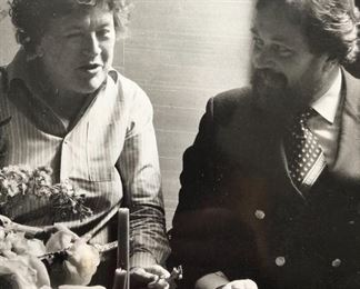 Julia Child with Peter Prescott