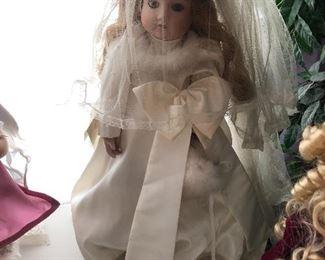 Look at this beautiful wedding doll.