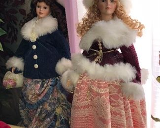 So much detail on these two extra large dollies.