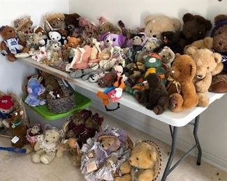 You've never seen such a selection of bears, Even bears to wear on your feet.  Some very collectible.