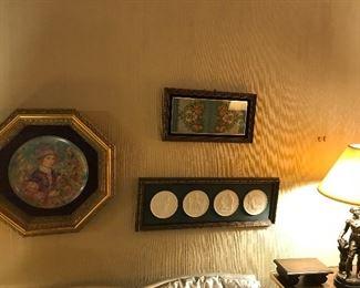 Edna Hibel Framed Plate