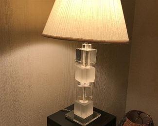 Lucite Cube Lamp