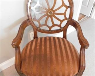 """Oval Spider Web Back Occasional Chair - 23.5""""W x 20""""D x 39.5""""H"""