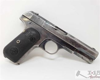 305: 	 Colt 1903 Semi Auto .32 Caliber Pistol, Ca Transfer Available Serial Number: 62104 Barrel Length: 4""
