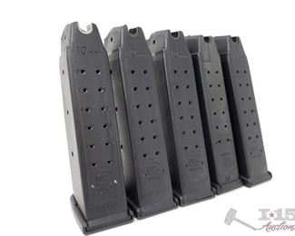 311: 	 5 Glock 20 10mm 15 Round Magazines, Out of State or LEO 5 Glock 20 10mm 15 Round Magazines, Out of State or LEO