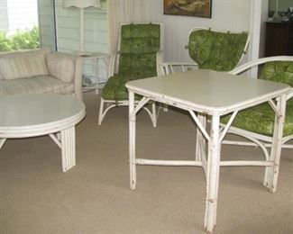 Haywood Wakefield tables and more chairs