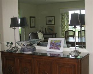 Buffet and large mirror