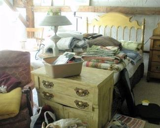 You will not believe the amount of antique quilts and blankets  found throughout the house.