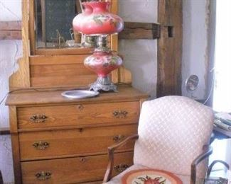 Lots of Antique Dressers and Chairs....Dresser with mirrors, dresser without mirrors and mirrors without dressers.