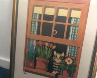 Cat in Window Print