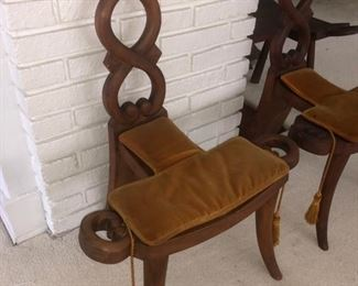 Antique birthing chairs......