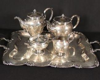 Peruvian Sterling Silver Tea Set