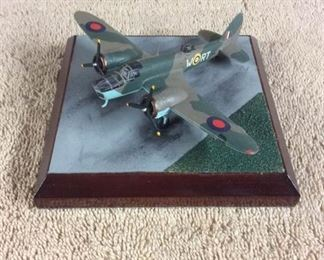 0008  Diverse Images Pewter Airplane Collection  Bristol Blenheim